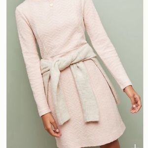 Anthropologie Saturday Sunday Textured Pink Dress